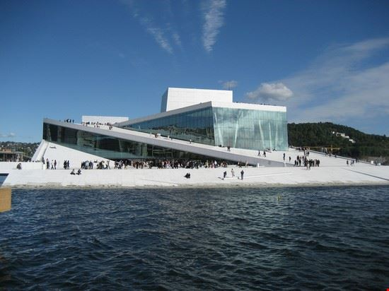 35759 oslo the norwegian opera and ballet in bjrvika oslo on a sunny summer day