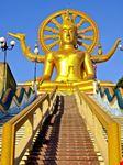 koh samui goldener buddha im kunaim-tempel