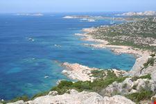 Vista panoramica della costa ovest de La Maddalena