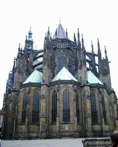 Castello Hradcany Cattedrale di S. Vito facciata posteriore