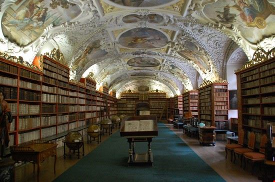 37627 prague theological library strahov monastery prague