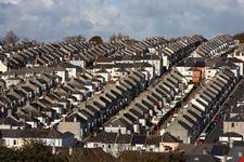 plymouth blick auf britische wohnsiedlungen