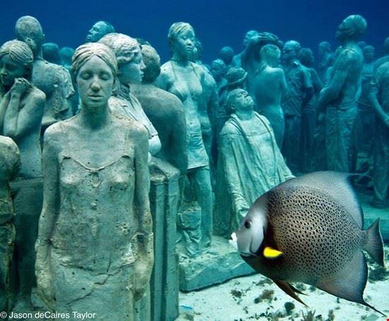 cancun estatuas submarinas