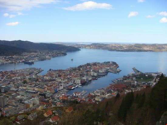 panorama from mountain bergen
