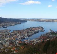 panorama from mountain bergen