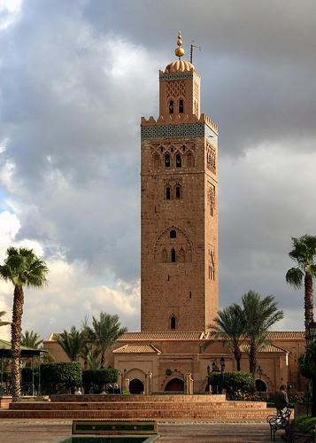 foto marrakech koutoubia mosque a marrakech 357x500. Black Bedroom Furniture Sets. Home Design Ideas
