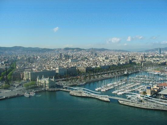 Foto panorama da teleferica a barcellona 550x412 for Villaggi vacanze barcellona