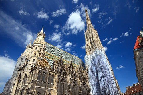 photo vienne cathedrale saint etienne a vienne in vienna pictures and images of vienna. Black Bedroom Furniture Sets. Home Design Ideas