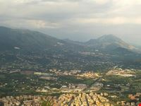 abtei blick auf cassino vom gleichnamigen berg