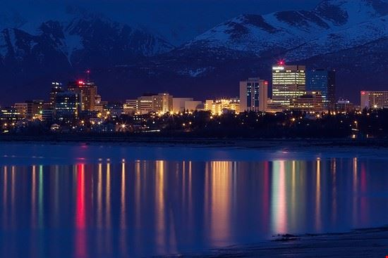 The lights of Anchorage