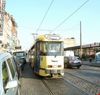 40414 brussels trams in ropsy chaudron street anderlecht