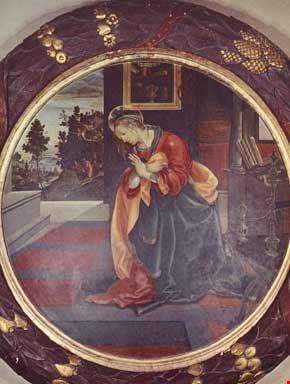 Vergine Annunziata (Filippino Lippi 1482)