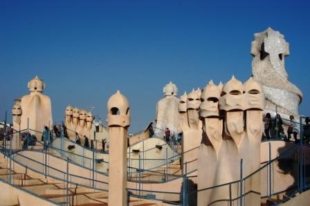 Foto sui tetti di barcellona a barcellona 448x298 for Villaggi vacanze barcellona
