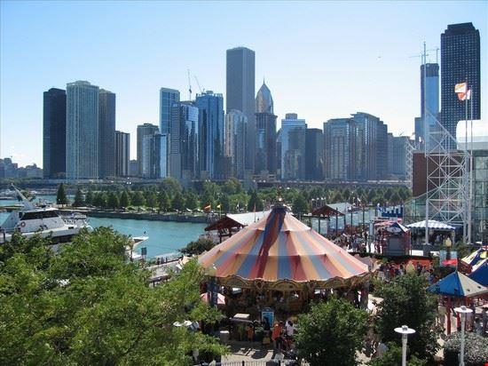 41433 chicago skyline di chiacago da navy pier