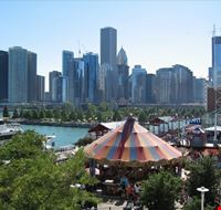 41433 chicago skyline di chiacago da navy pier