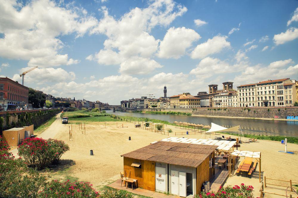Spiaggia sull'Arno