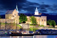 Fortezza di Akershus di sera