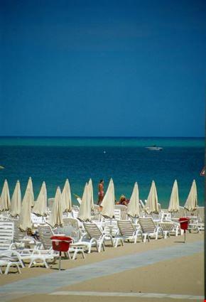 riccione veduta della spiaggia