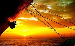 cuxhaven sonnenaufgang vor der elbe