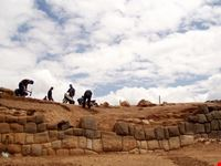 Archeological site workers