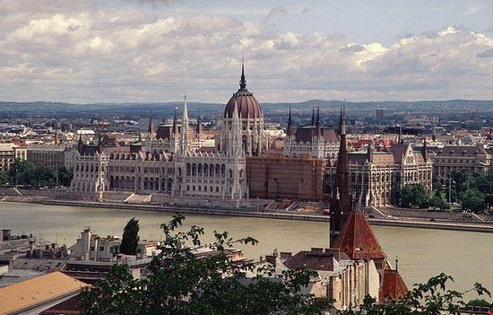 Ungarisches Parlamentsgebäude in Budapest