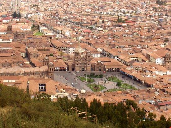 44097 cuzco cuzco main square from saqsawaman