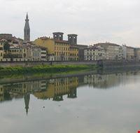 Nebliger Arno bei Empoli
