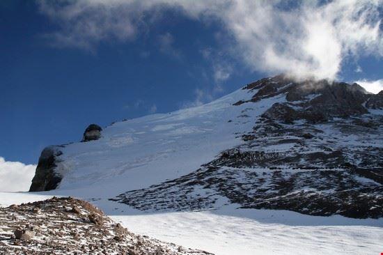 mendoza gletscher auf dem aconcagua