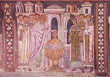 roma basilica ss quattro coronati san silvestro battezza costantino con