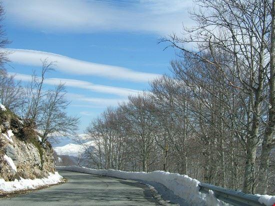 Campo Staffi la strada per le piste da sci