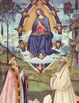 san gimignano la madonna in gloria pinturicchio