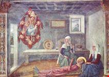 san gimignano apparizione di s gregorio a s fina annuncio della morte