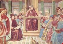 san gimignano s agostino legge retorica e filosofia a roma gozzoli 1465