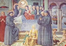 san gimignano morte di s monica gozzoli 1465
