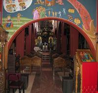 Interno cripta icona della Madonna di Lepanto