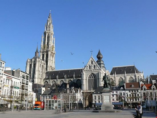 anvers groenplaats ou place verte a anvers belgique