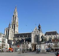 anvers groenplaats ou place verte a anvers belgique