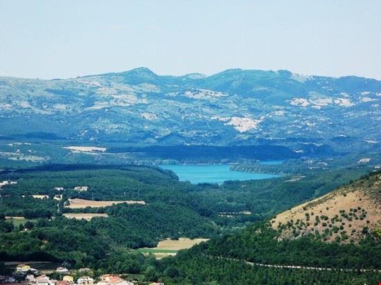 Diga del Pertusillo (veduta panoramica dal Castello)