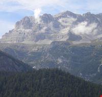 Vista delle Dolomiti di Brenta dal Lago di Tovel
