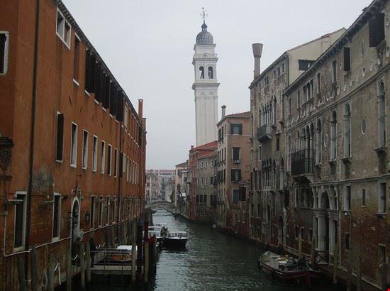 48782 venezia campanile della chiesa di san giorgio dei greci