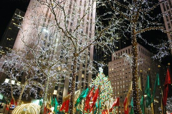 Foto Di Natale New York.Photo New York Il Rockefeller Center A Natale In New York Pictures
