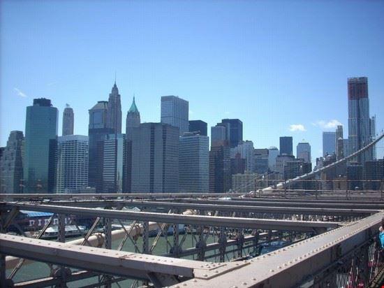 Visto in lontananza dal ponte di Brooklyn