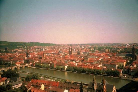 panorama sulla città di Wurzburg