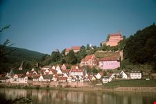 hirschhorn cittadina nelle vicinanze heidelberg