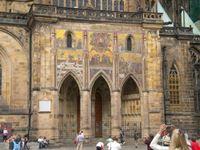 cattedrale di san vito facciata laterale praga