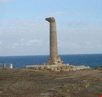 L'unica colonna dell'antico tempio greco di Era Lacinia