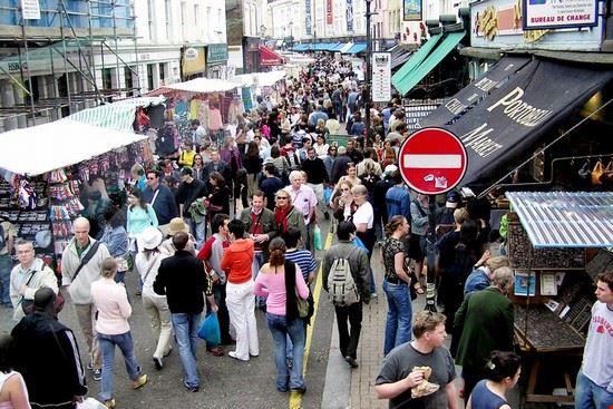 Il mercato di Portobello a Londra