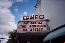 L'insegna del Cameo Theatre, so '80s