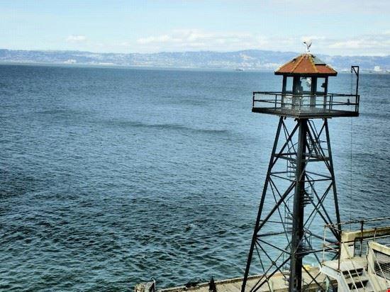 La torretta sull'isola di Alcatraz