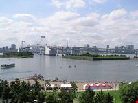 Odaiba e il Rainbow Bridge a Tokyo
